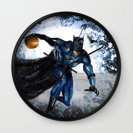 baller bat man Wall Clock