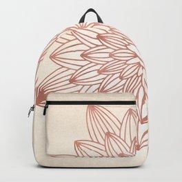 Mandala Blossom Rose Gold on Cream Backpack