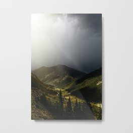 Mountain Rain Metal Print