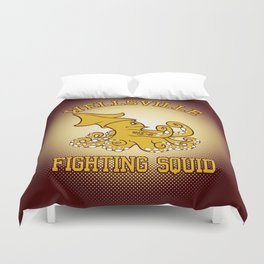 """Wellsville Fighting Squid (Notre Dame/""""Pete and Pete"""" parody) Duvet Cover"""