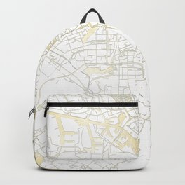 Amsterdam White on Gold Street Map Backpack