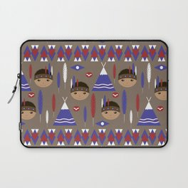 Seamless kids cute American indian native retro background pattern Laptop Sleeve