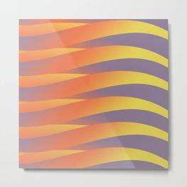 Pastel Abstract Tiger Metal Print