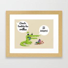 Bebé cocodrilo Framed Art Print
