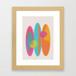 Surf 3 Framed Art Print