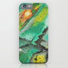 Green orange galaxy Slim Case iPhone 6s