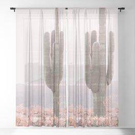 Vintage Cactus Sheer Curtain