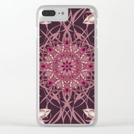 Colors of the Cherry Blossom Mosaic Clear iPhone Case