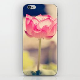 Pink Water Lotus iPhone Skin
