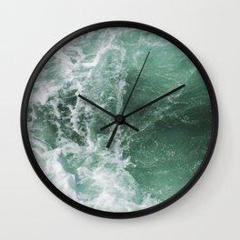 Turbulent Waters Wall Clock