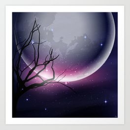 Face of the Moon Art Print