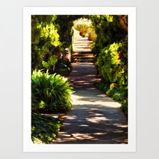 Secluded Path in Autumn Art Print