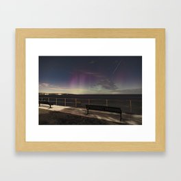 Shooting Star Aurora Framed Art Print