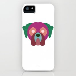 minimalist boxer iPhone Case