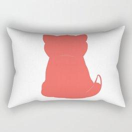 Cat red Rectangular Pillow