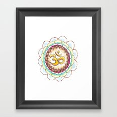 Radiating Om Framed Art Print