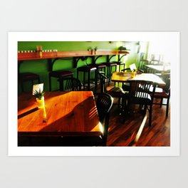 Cafe Boba Tables Art Print