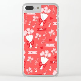 Love and flowers Clear iPhone Case