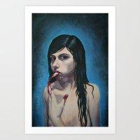 Sharp tongue Art Print