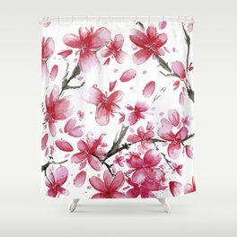 Cherry Blossoms #society6 #buyart Shower Curtain
