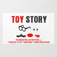 toy story Area & Throw Rugs featuring Toy Story Movie Poster by FunnyFaceArt