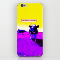 cows iPhone & iPod Skins featuring Psychedelic Cows by Peter Gross