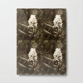 Pride 1 Antiqued 2x2 Brown Damask Metal Print