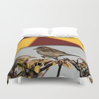 sparrow Duvet Covers featuring Sparrow by IowaShots