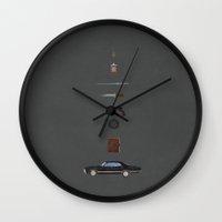 supernatural Wall Clocks featuring Supernatural by avoid peril