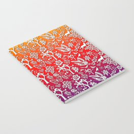 Rainbow White Joshua Tree by CREYES Notebook