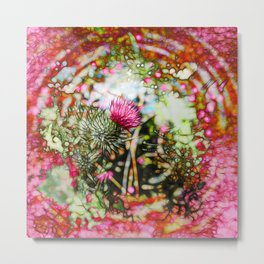 Vibrant abstract  thistle Metal Print