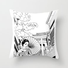 Enoshima - Kanagawa-ken Throw Pillow