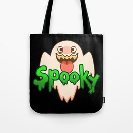 Spooky Ghost (Red) Tote Bag