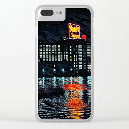 Domino Sugars at night Clear iPhone Case
