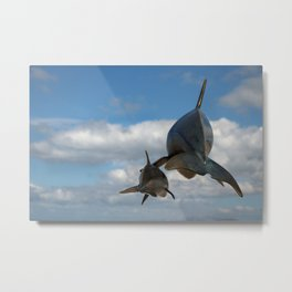 Vaquitas in the Clouds Metal Print