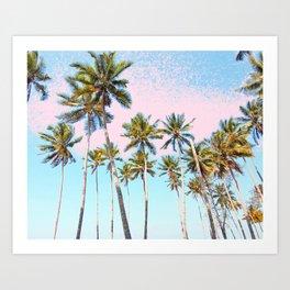 Coconut Palms #society6 #decor #buyart Art Print