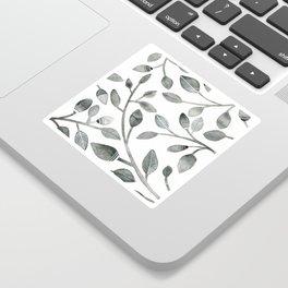 Monochrome Leaves Sticker