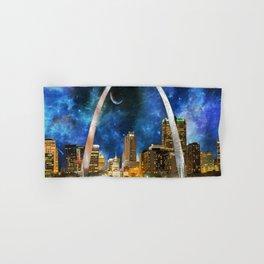 Spacey St. Louis Skyline Hand & Bath Towel
