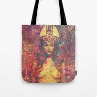 queen Tote Bags featuring Queen by Nechifor Ionut
