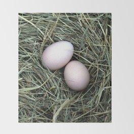Chicken Eggs Throw Blanket