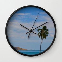 Caribbean colors Wall Clock