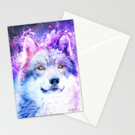 Cosmic Wolf Stationery Cards