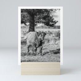 Cute Scottish Highland Cow Cattle Mini Art Print