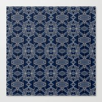 Triangle Tribal Indigo Canvas Print