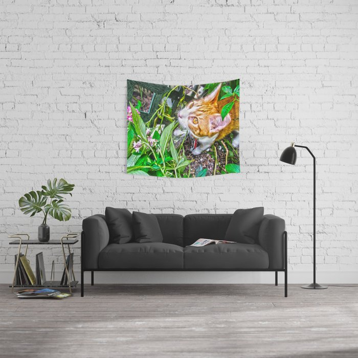 The Pumpkin in the Garden Wall Tapestry