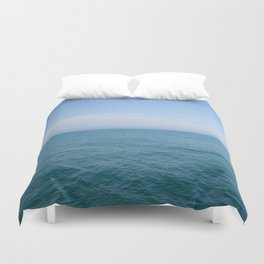Floating to Blue Duvet Cover