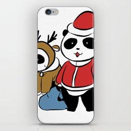 Panda claus iPhone Skin