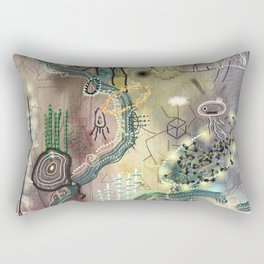 New Worlds Trail Map: The Land of Tall Things Rectangular Pillow