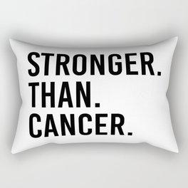 Stronger than cancer. Pink ribbon awareness. Rectangular Pillow