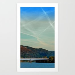 Bridge, scenery and some clouds | architectural photography Art Print